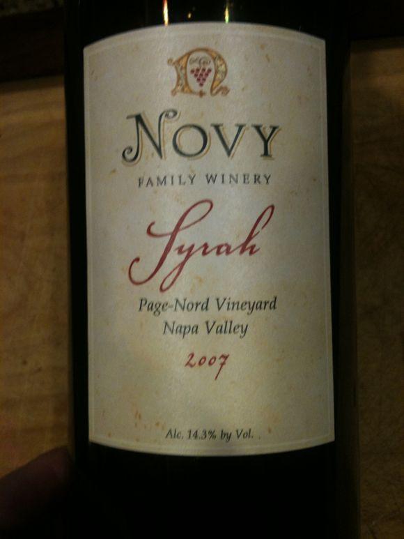 napa red wine, syrah, napa syrah, 2008 novy syrah, page-nord